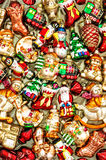 Christmas tree decoration baubles, toys and colorful ornaments Stock Image