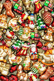 Christmas tree decoration baubles, toys and colorful ornaments. Stock Photography