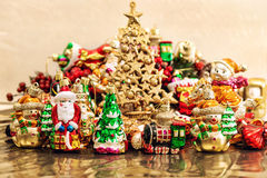 Christmas tree decoration baubles toys ornament Royalty Free Stock Photography