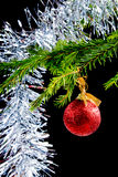 Christmas tree decoration.black background Royalty Free Stock Photo