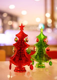Christmas tree decoration with bokeh Royalty Free Stock Images