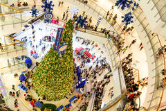 Christmas Tree Decoration in Central World Plaza Famous Shopping. Bangkok, Thailand - December 24, 2011: Crowded with Christmas Tree Decoration in Central World royalty free stock images