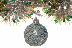 Christmas-tree decoration. Christmas post card Stock Photography