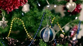 Christmas tree decoration 8 stock video footage