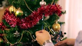 Christmas tree decoration 24 stock video footage