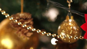 Christmas tree decoration stock video footage