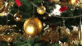 Christmas tree decoration stock footage