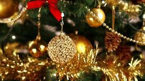 Christmas tree decoration stock video footage