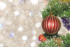 Christmas-tree decoration, close-up. Christmas picture (card) royalty free illustration