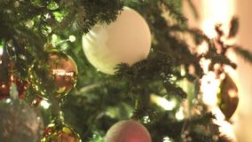 Christmas Tree Decoration stock video