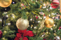 Christmas Tree Decoration Closeup Royalty Free Stock Photos