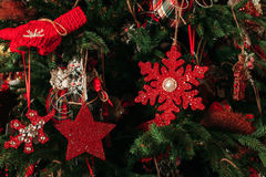 Christmas tree decoration closeup Royalty Free Stock Image