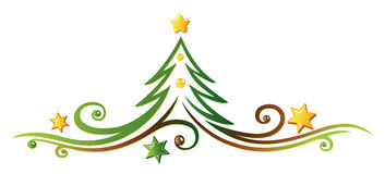 Christmas tree. Christmas decoration, colorful christmas tree Stock Images