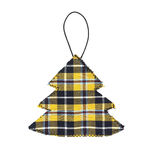 Christmas Tree Decoration in Cornish Tartan, isolated on white. Royalty Free Stock Images