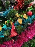 Christmas tree decoration in Christmas day royalty free stock photos