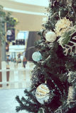 Christmas Tree Decoration. Christmas tree decorated in a shopping mall Royalty Free Stock Photography