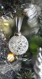 Christmas tree with decoration, detail Stock Photos