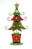 Christmas tree decoration. A festive metal Christmas tree decoration for the holidays Stock Image
