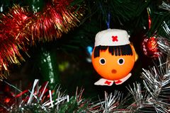 Christmas tree decoration, figures Royalty Free Stock Photography