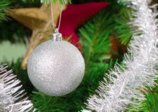 Christmas tree decoration on a fir Royalty Free Stock Images