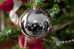 Christmas tree decoration. Foreground of Christmas tree decoration Royalty Free Stock Photo