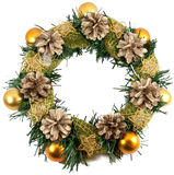 Christmas Tree Decoration garland Royalty Free Stock Images