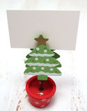 Christmas tree decoration and a gift card Royalty Free Stock Images