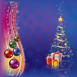Christmas tree with decoration and gifts Royalty Free Stock Photo