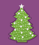 Christmas Tree with with decoration Stock Photos