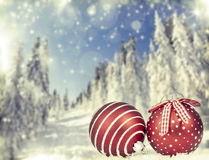 Christmas tree decoration and holiday lights Royalty Free Stock Images