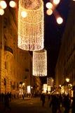 Christmas tree decoration and holidays lights on Christmas Old c Stock Photos