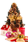 Christmas tree and decoration Royalty Free Stock Photography