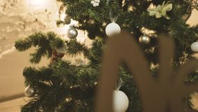 Christmas Tree Decoration stock video
