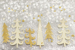 Christmas tree decoration made out of paper Royalty Free Stock Images