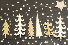 Christmas tree decoration made out of paper Royalty Free Stock Photo