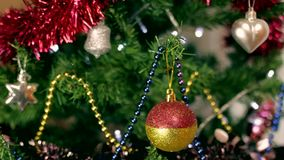Christmas tree decoration 7 stock footage
