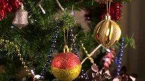 Christmas tree decoration 1 stock video footage
