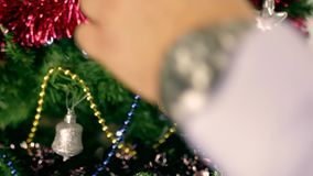 Christmas tree decoration 18 stock footage