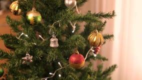 Christmas tree decoration 22 stock video