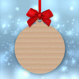 Christmas tree decoration, Mockup tag, sticker label, Greeting card template Stock Image