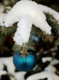 Christmas-tree decoration outdoor Royalty Free Stock Photos
