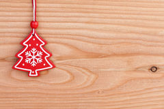 Christmas tree decoration over wooden background Stock Photography
