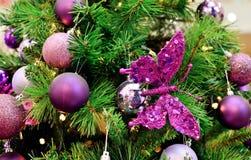 Christmas tree decoration. Purple color Christmas tree decoration Royalty Free Stock Photo