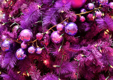 Christmas tree decoration. Purple colour Christmas tree decoration Stock Images