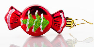 Christmas tree decoration. Red candy. Royalty Free Stock Photos