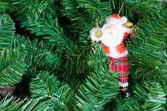 Christmas tree decoration Santa Royalty Free Stock Photo