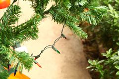 Free Christmas Tree Decoration Scene. Stock Images - 104926894