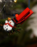 Christmas clothespin tree decoration Stock Images