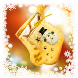 Christmas-tree decoration with socks Stock Image