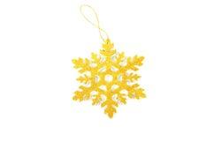 Christmas tree decoration star. On white background Royalty Free Stock Photo